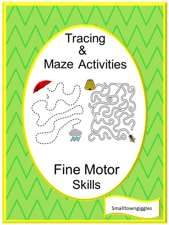 Tracing And Mazes Fine Motor Activities No Prep Printable Etsy
