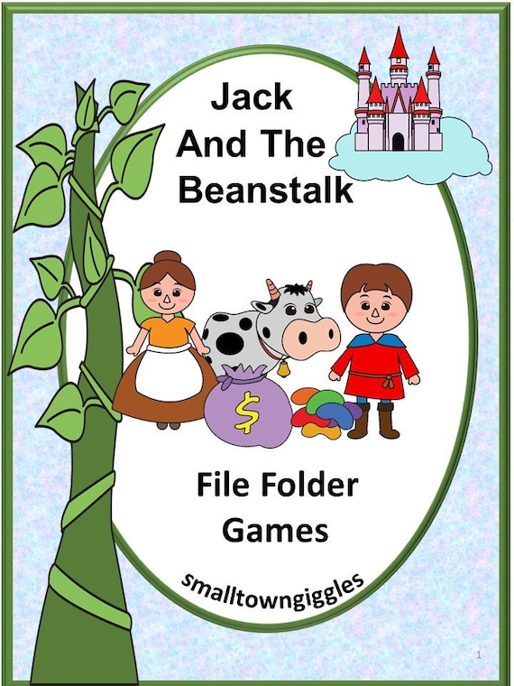 jack and the beanstalk file folder games p kk special ed etsy