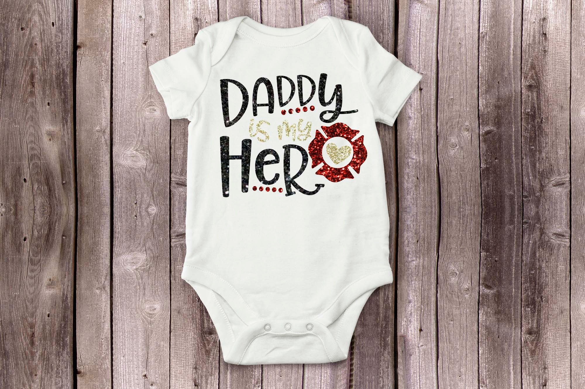 Daddy is my Hero, Thin red line, Firefighter gift, Gift for daddy ...