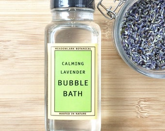 Christmas Gift for Women - Organic French Lavender Bubble Bath | Sensitive Skin Safe