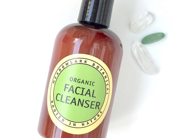 Organic Facial Cleanser for Sensitive Skin | Eczema and Rosacea Safe | 4.5 fl oz