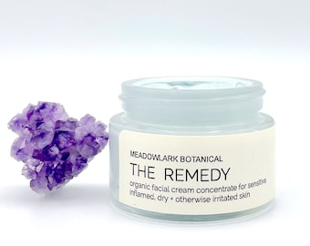 The Remedy   Organic Face Cream for Sensitive Skin, Rosacea, Eczema + Redness   with Blue Tansy & Botanicals