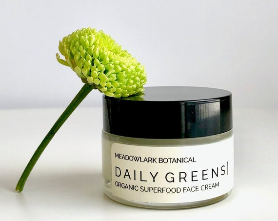 Daily Greens Face Cream | Organic Superfood Moisturizer for Normal to Dry Skin | Vegan + Non GMO