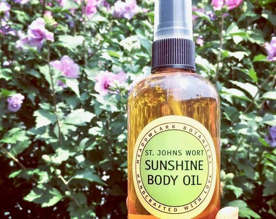 Sunshine in a Bottle Body Oil Spray w St. John's Wort + Sea Buckthorn