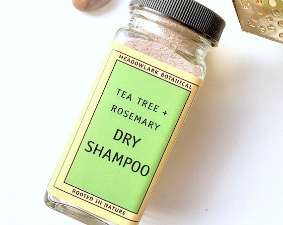 Dry Shampoo Powder for Dark Hair -  Eco Friendly + Organic