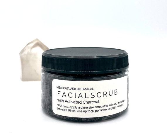 Detoxifying Organic Face Scrub, Natural Micro-Exfoliant Facial Polish, Vegan Skin Care