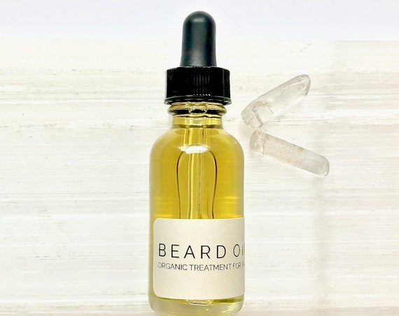 Organic Beard Oil with Repairing Argan - Softens and Conditions