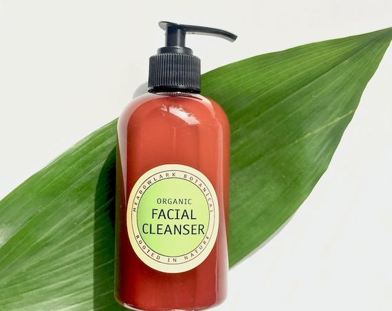 Sensitive Skin Facial Cleanser - Natural Creamy Face Wash for Dry Skin