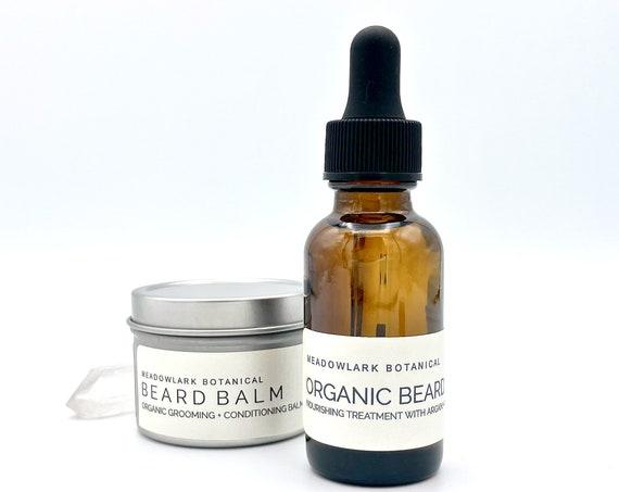 Organic Beard Oil & Balm Set | Eco Friendly