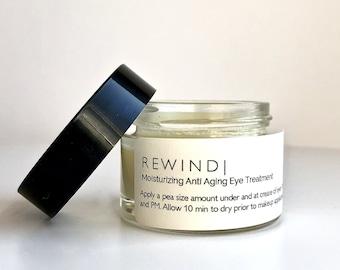 REWIND    Organic Eye Cream for Dark Circles -  Anti Aging & Hydrating