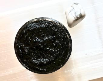 Detox - Organic Face Scrub w. Activated Charcoal + Herbs   Detoxifying Facial Scrub   Vegan Scrub   Non GMO, Cruelty Free