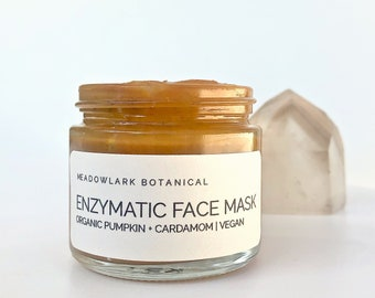 Pumpkin Facial Mask + Gentle Enzyme Peel with Turmeric & Cardamom   Organic + Vegan