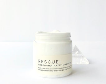 RESCUE Hand Cream - Intensive Concentrated Treatment for Dry Skin    Unscented + Organic