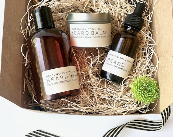 Beard Grooming Kit for Men | Vegan + Organic