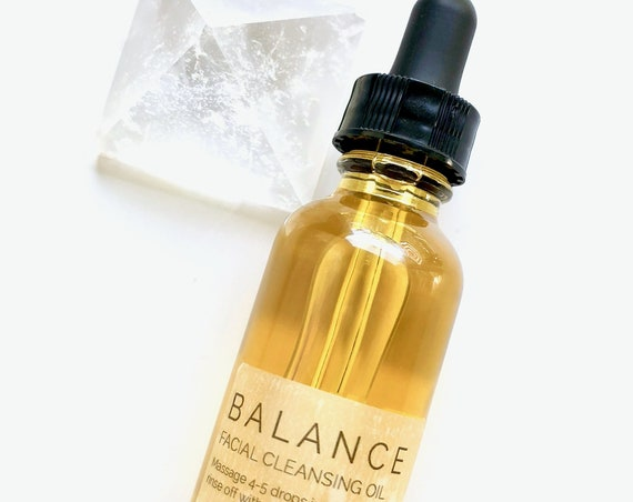 Vegan Anti-Aging Facial Cleansing Oil with Argan, Tamanu & Neroli