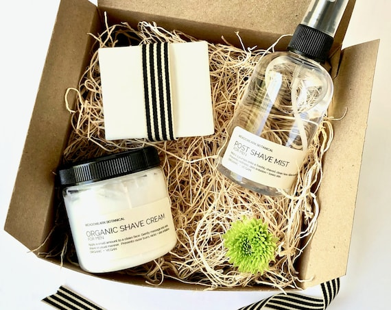 Shaving Kit Valentines Gift for Him |  Men's Grooming Set | Organic + Vegan