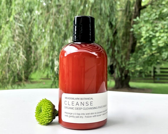 Deep Cleansing Organic Face Wash for Acne and Oily Skin