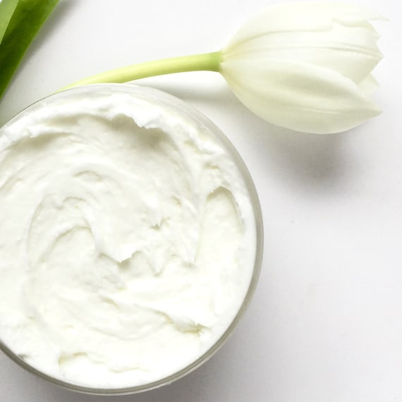Organic Magnesium Body Butter w Whipped Raw Shea and Moringa