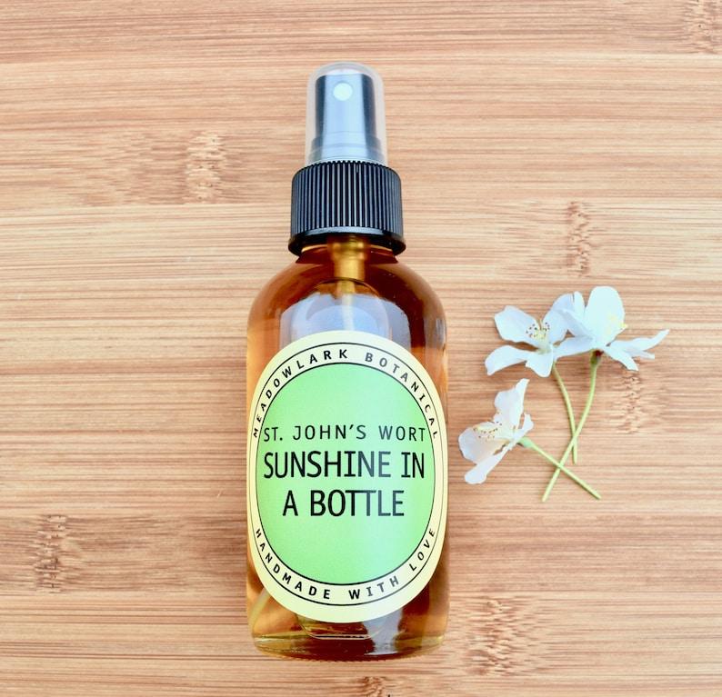 Sunshine in a Bottle Body Oil Spray w St  John's Wort + Sea Buckthorn