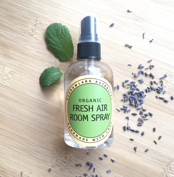 Fresh Air Room Spray - Natural Air Freshener for Pet Odors, Bathroom, Kitchen and Spring Cleaning