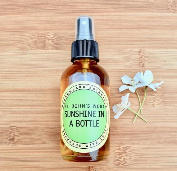 Sunshine in a Bottle - Get Happy Body Oil Spray with St. John's Wort | Vegan