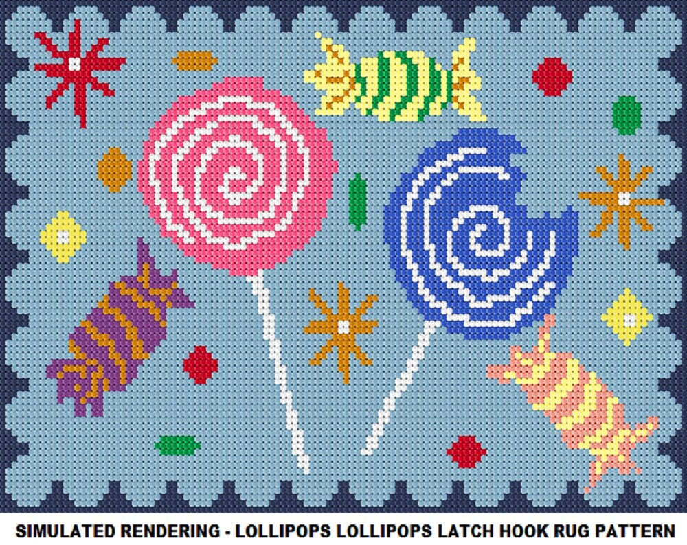 Latch Hook Rug Patterns Custom Inspiration Ideas
