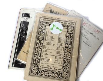 Vintage Ephemera Music Sheet Packs - Scrapbooking - Journaling - Craft Supplies
