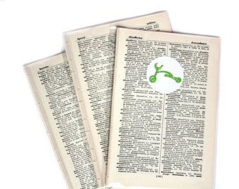 Vintage French Dictionary Pages - Paper Ephemera