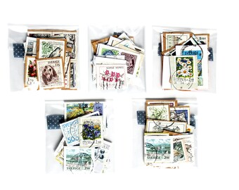 Vintage Collections of Stamps - Used - Journals - Scrapbooks - Craft Supplies