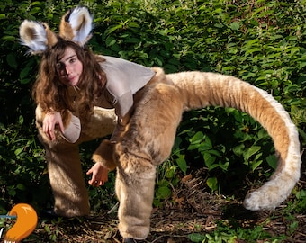 8dd293a44074 Kangaroo Costume! Realistic Faux Fur Kangaroo Trousers With Padded Shaping!  Huge Kangaroo Tail and Ears Set. Partial Fursuit Furry Cosplay