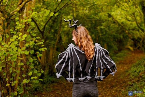 Black Dragon Wings Costume Bad Fairy Maleficent Bat Demon Costume Succubus Incubus Toothless Cosplay Demon Costume Fancy Dress Larp Bdsm