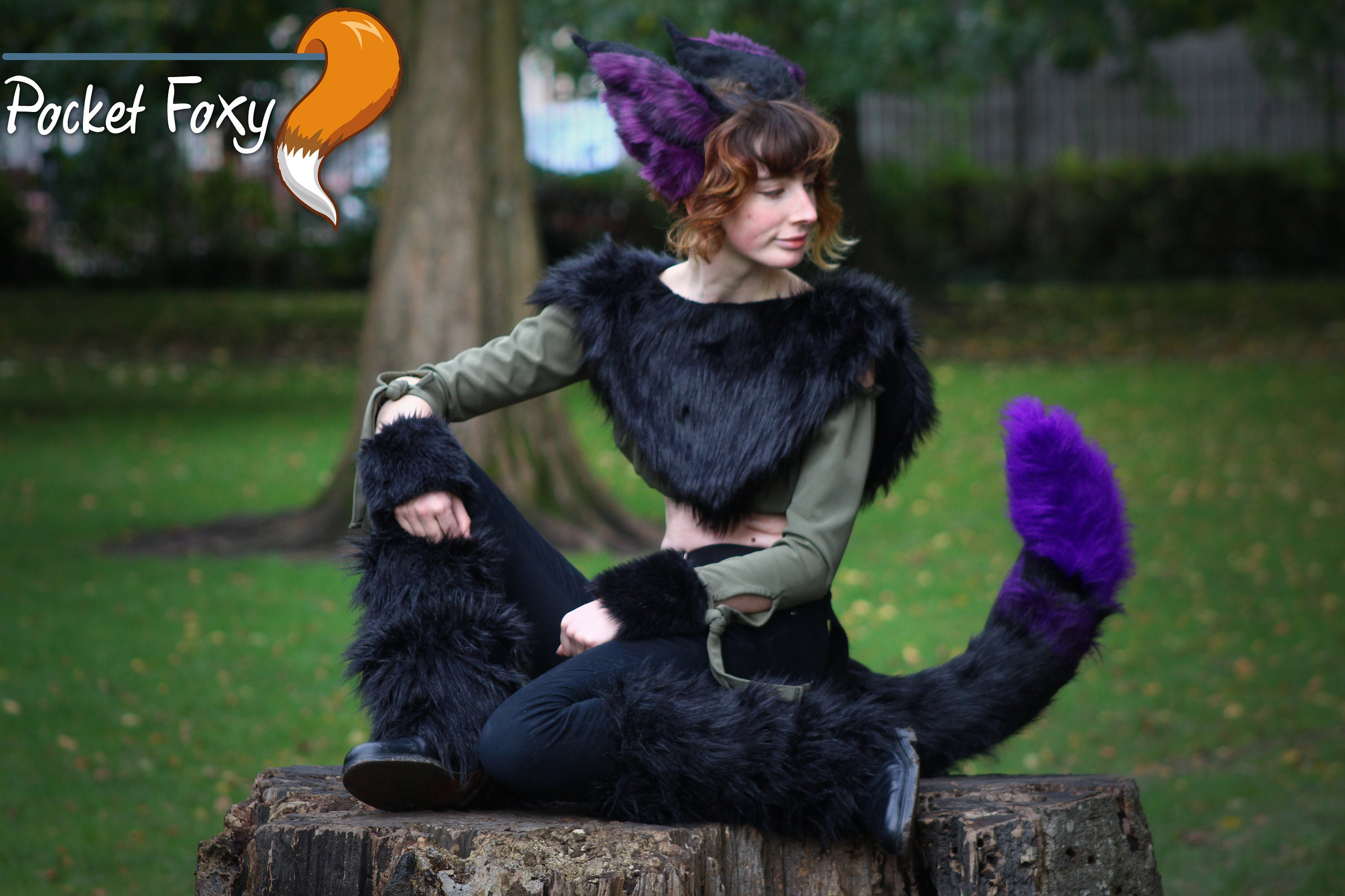 Ladies Halloween Fancy Dress NEW Ears /& Giant Tail Animals