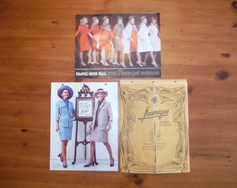 d317def243 Fantastic 1970 s Fashion Catalogs - 1970 Jeunique Fashions Color Black    White Photographs Catalog - Retro Groovy Fashion Ephemera Lot