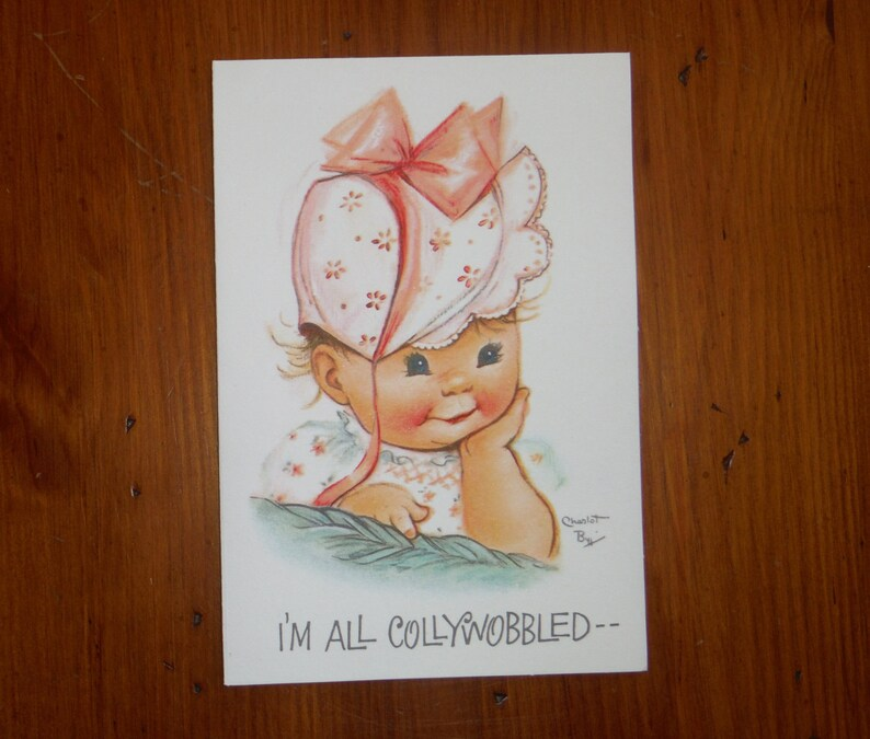Vintage 1950s Child Adult Birthday Card /'50/'s Belated Belated Birthday Vintage Card Vintage Unused Charlot Byj Belated Birthday Card