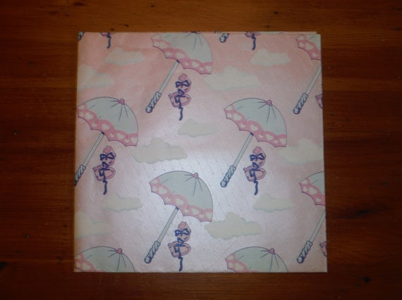 Vintage 1950 S Baby Shower Wrapping Paper 50 S Etsy