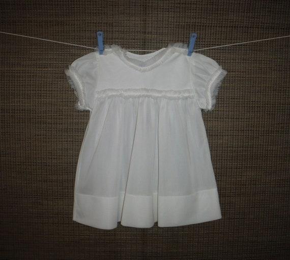 9c7199621 Shabby Chic Vintage White Infant Baby Dress 1950 s Baby