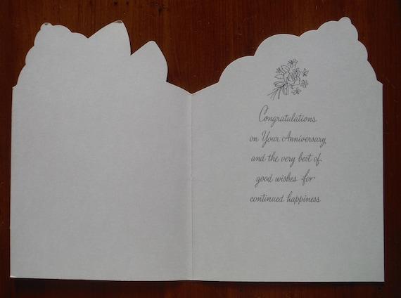Carte D Anniversaire Inutilise Vintage 1950 50 Est La Carte D
