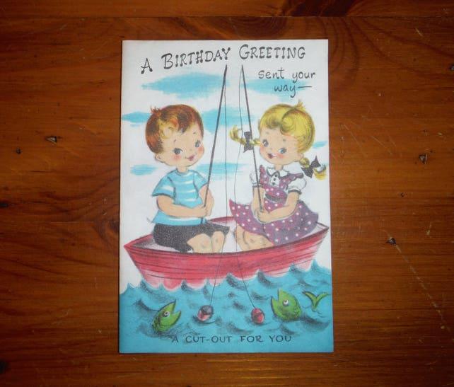 Vintage 1950s Unused Birthday Card