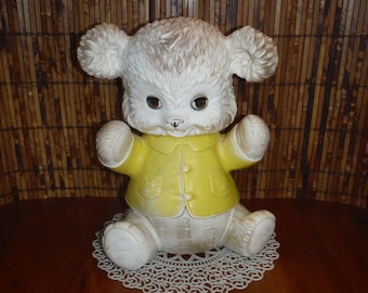 Vintage 1960's Edward Mobley Teddy Bear Squeak Toy - Little Baby Squeaker Toy - Mobley Buster the Bouncing Baby Bear - 1960's Baby Toy