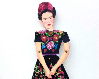 Frida Goddess cut out and make articulated puppet