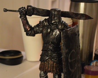 Dark Souls Black Iron Knight Tarkus statue hand made limited edition sculpture