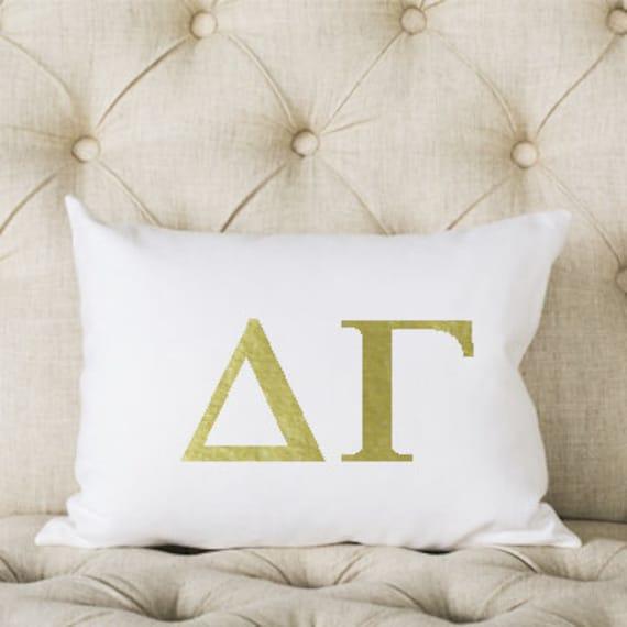 coussin gamma delta m talliques or rose or ou argent etsy. Black Bedroom Furniture Sets. Home Design Ideas