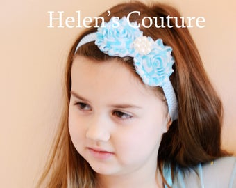 blue hair styles items similar to radiance shabby flower headband 1525 | il 340x270.1446993593 29dl
