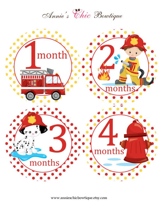 photograph relating to Baby Month Stickers Printable named Printable every month stickers, Fireman youngster month to month stickers, Do it yourself regular monthly stickers, Electronic Fireman regular stickers, Instantaneous Obtain P226