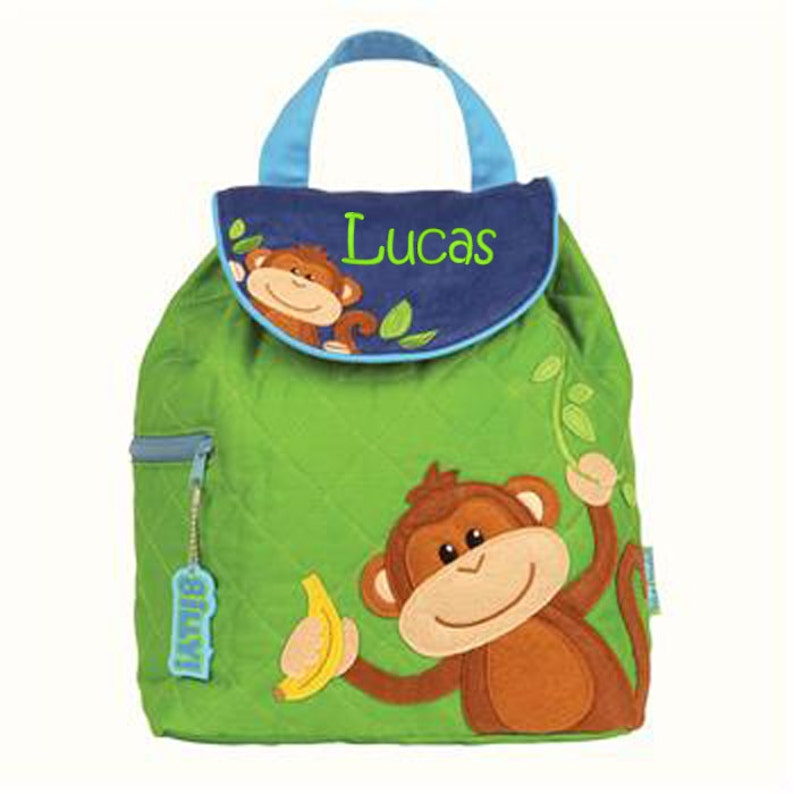 17dc1ae199 Monkey backpack Personalised Backpack boys backpack Toddler