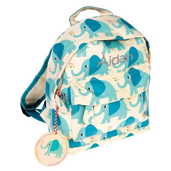 Fang San Francisco Markenqualität Personalisierte Elefant Mini Rucksack, Kleinkind Rucksack, Kindergarten  Rucksack, Kita, erster Schultag, Geburtstagsgeschenk