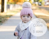 BABY and KIDS pom pom beanie kids winter hat, warm hat, winter hat, baby hat, baby beanie, toddler hats, beanies for girls, knit beanie,