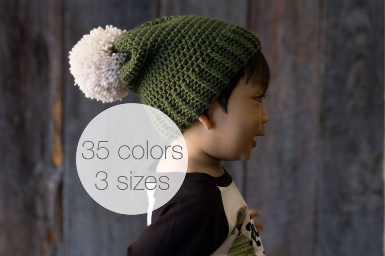 455839c1e5c Kids winter hat slouchy crochet beanie knit hat hipster