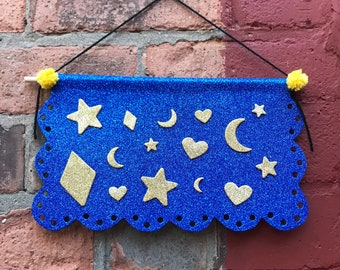 Pin Banner Papel Picado Inspired Glitter Pin Banner Pin Etsy
