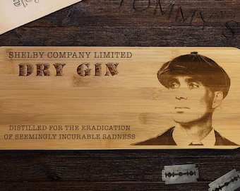 Peaky Blinders Gin Board, Quality Gift for Him, Gift For Her, Paddle Board for cutting your Limes.